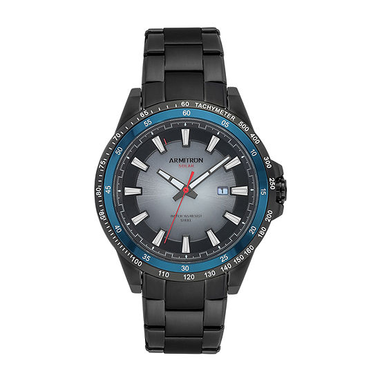 Armitron Mens Black Stainless Steel Bracelet Watch-20/5303bkti