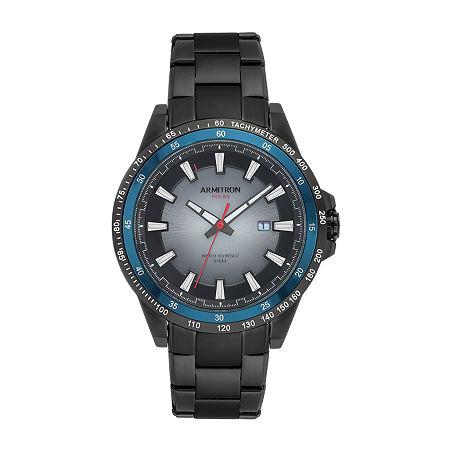 Armitron Mens Black Stainless Steel Bracelet Watch - 20/5303bkti, One Size