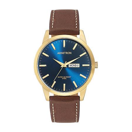 Armitron Unisex Brown Strap Watch-20/5311nvgpbn, One Size