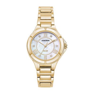 Armitron Womens Gold Tone Bracelet Watch-75/5624mpgp
