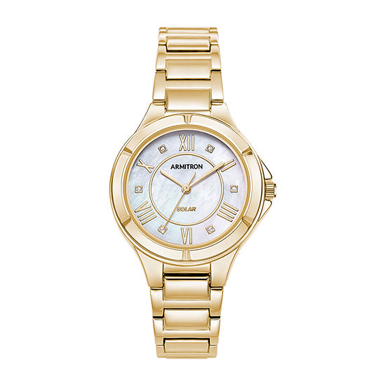 Armitron Womens Gold Tone Bracelet Watch-75/5624mpgp