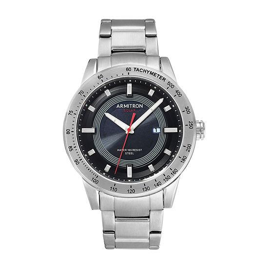 Armitron Mens Silver Tone Stainless Steel Bracelet Watch-20/5288bksv