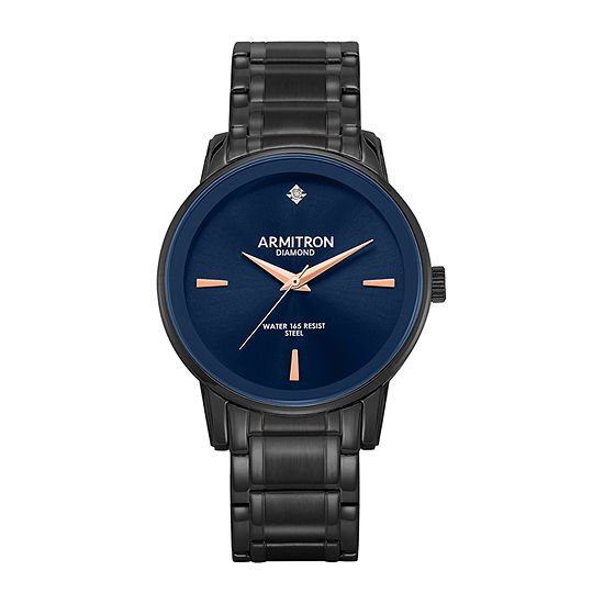 Armitron Mens Diamond Accent Gray Stainless Steel Bracelet Watch-20/5263nvdg