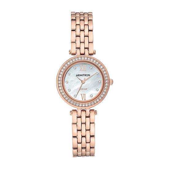 Armitron Womens Crystal Accent Rose Goldtone Bracelet Watch-75/5623mprg