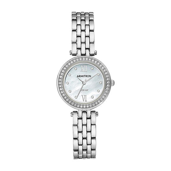 Armitron Womens Crystal Accent Silver Tone Bracelet Watch-75/5623mpsv