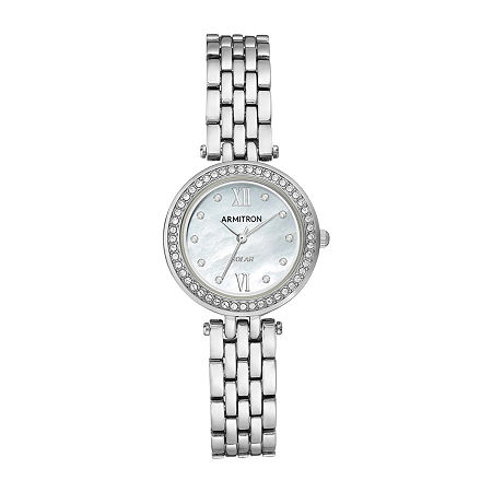 Armitron Womens Crystal Accent Silver Tone Bracelet Watch - 75/5623mpsv, One Size
