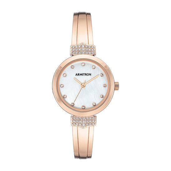 Armitron Womens Crystal Accent Rose Goldtone Bracelet Watch-75/5637mprg