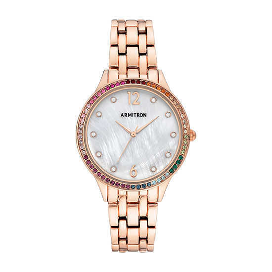 Armitron Womens Crystal Accent Rose Goldtone Bracelet Watch-75/5644mprg