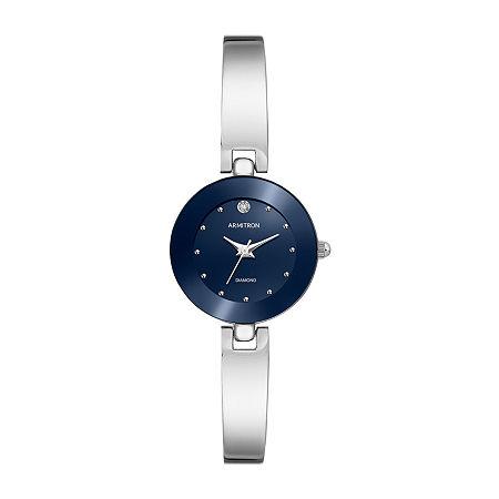 Armitron Womens Diamond Accent Silver Tone Bracelet Watch - 75/5646blsv, One Size