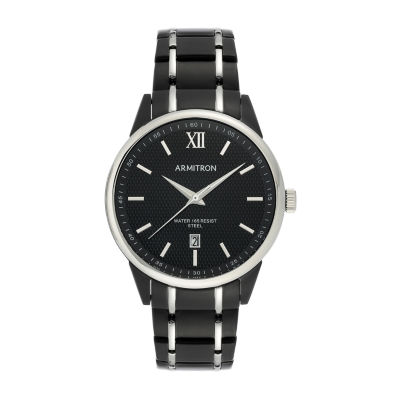 Armitron Mens Black Stainless Steel Bracelet Watch 20/5388bktb
