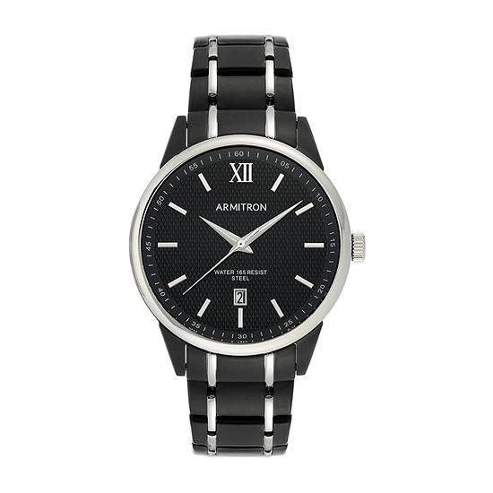 Armitron Mens Black Stainless Steel Bracelet Watch - 20/5388bktb