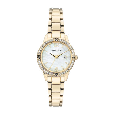 Armitron Womens Crystal Accent Gold Tone Bracelet Watch 75/5658mpgp