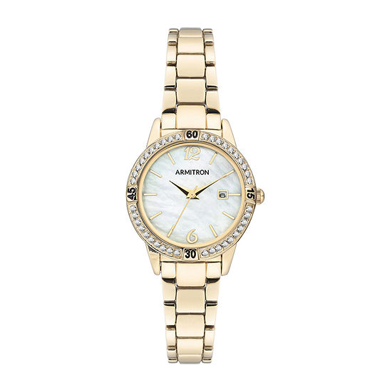 Armitron Womens Crystal Accent Gold Tone Bracelet Watch-75/5658mpgp
