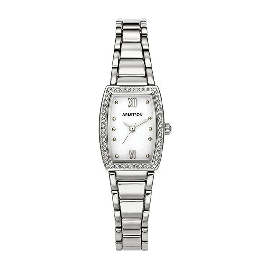 Armitron Womens Crystal Accent Silver Tone Bracelet Watch-75/5675mpsv