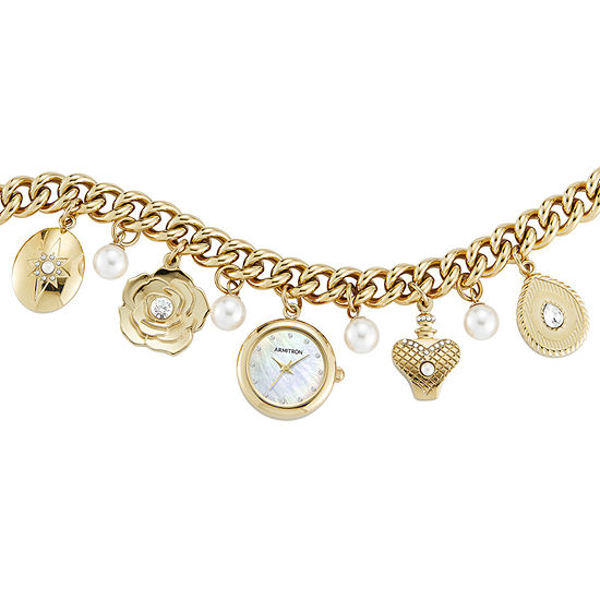 Armitron Womens Crystal Accent Gold Tone Bracelet Watch - 75/5684mpgp