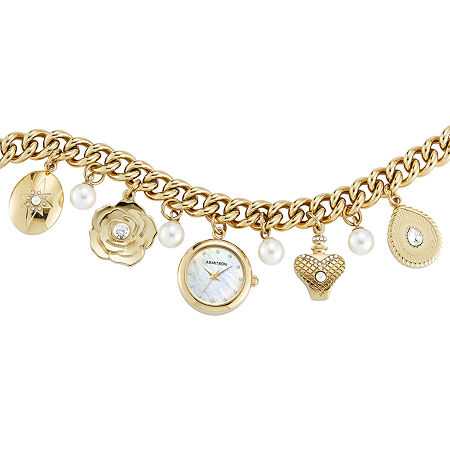 Armitron Womens Crystal Accent Gold Tone Bracelet Watch - 75/5684mpgp, One Size
