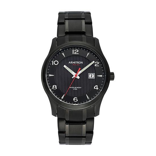 Armitron Armitron Mens Black Stainless Steel Bracelet Watch - 20/5367bkti