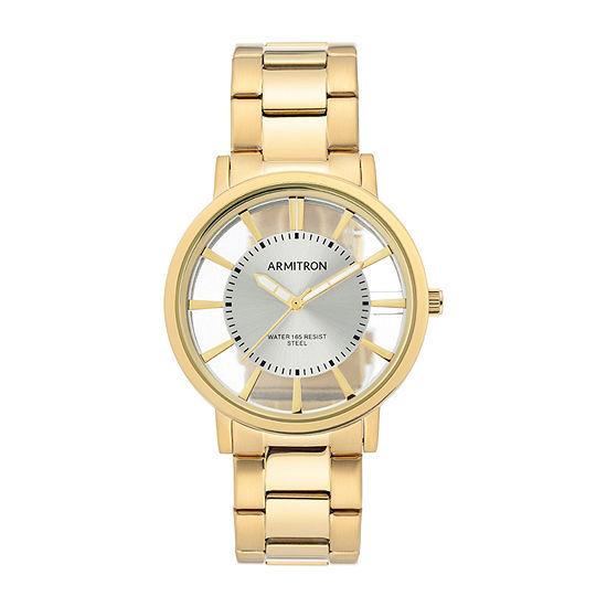 Armitron Mens Gold Tone Stainless Steel Bracelet Watch-20/5413svgp