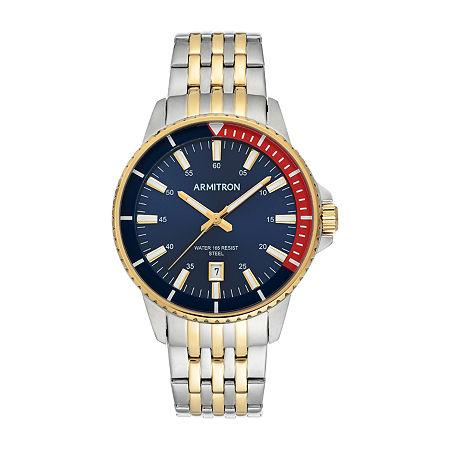Armitron Mens Two Tone Bracelet Watch-20/5414nvtt, One Size