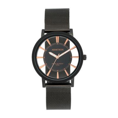 Armitron Mens Black Stainless Steel Bracelet Watch 20/5412bkti