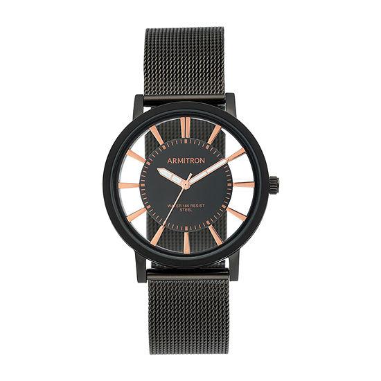 Armitron Mens Black Stainless Steel Bracelet Watch-20/5412bkti