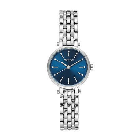Armitron Womens Crystal Accent Silver Tone Bracelet Watch - 75/5704blsv, One Size