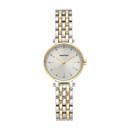 Armitron Womens Crystal Accent Two Tone Bracelet Watch - 75/5704svtt, One Size