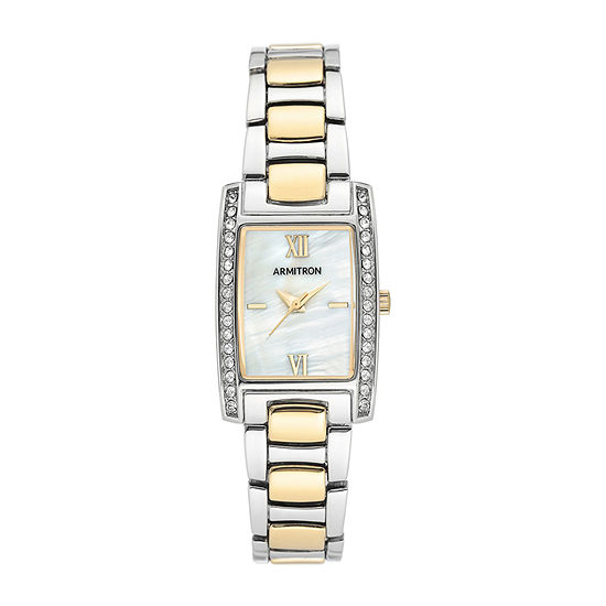 Armitron Womens Crystal Accent Two Tone Bracelet Watch-75/5705mptt