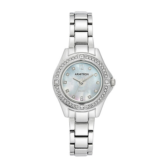Armitron Womens Crystal Accent Silver Tone Bracelet Watch-75/5711mpsv