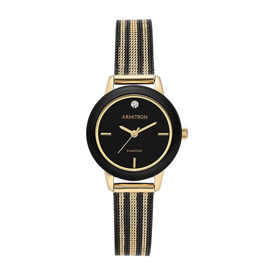 Armitron Womens Multicolor Bracelet Watch-75/5723bkbg