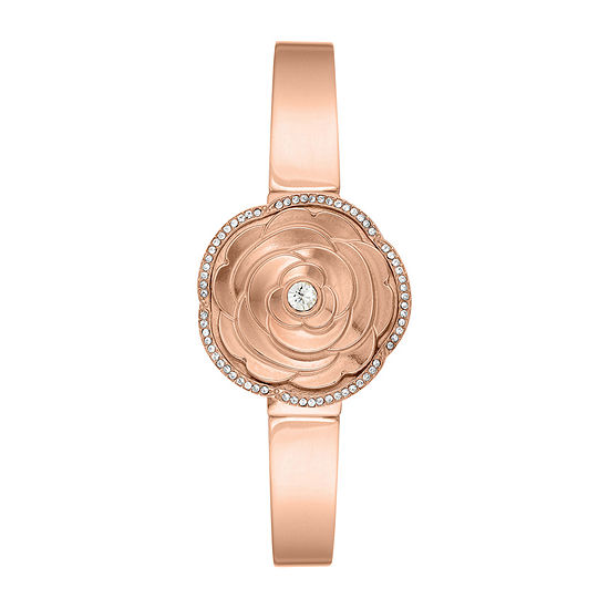 Armitron Womens Crystal Accent Rose Goldtone Bangle Watch-75/5682mprg