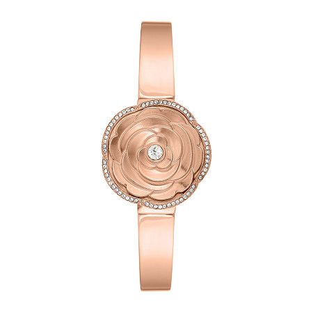 Armitron Womens Crystal Accent Rose Goldtone Bangle Watch-75/5682mprg, One Size
