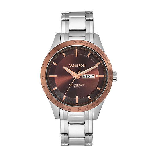 Armitron Mens Silver Tone Stainless Steel Bracelet Watch-20/5174bnbt