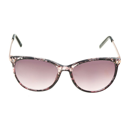 a.n.a Floral Round With Metal Temples Womens Sunglasses