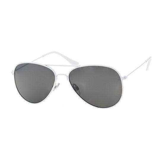 Arizona White Aviator Womens Sunglasses