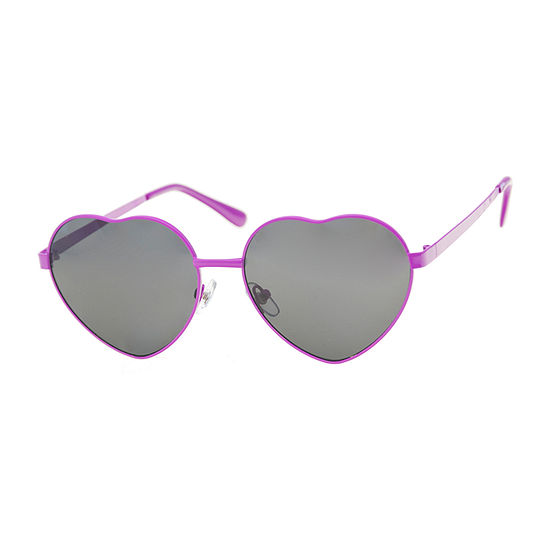 Arizona Pink Metal Hearts Womens Sunglasses