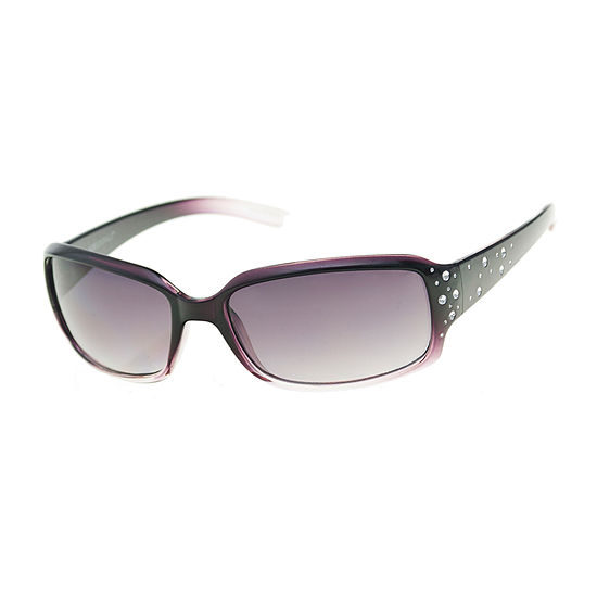 Mixit Rectangle With Stones Womens Sunglasses