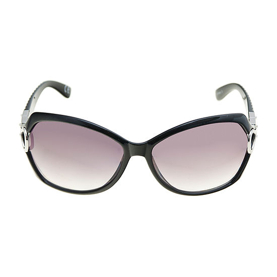 Mixit Rectangle Ith/ Metal Temples Womens Sunglasses