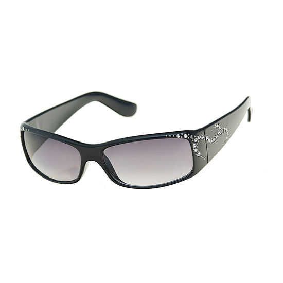 Mixit Plastic Rectangle With  Stones Womens Sunglasses