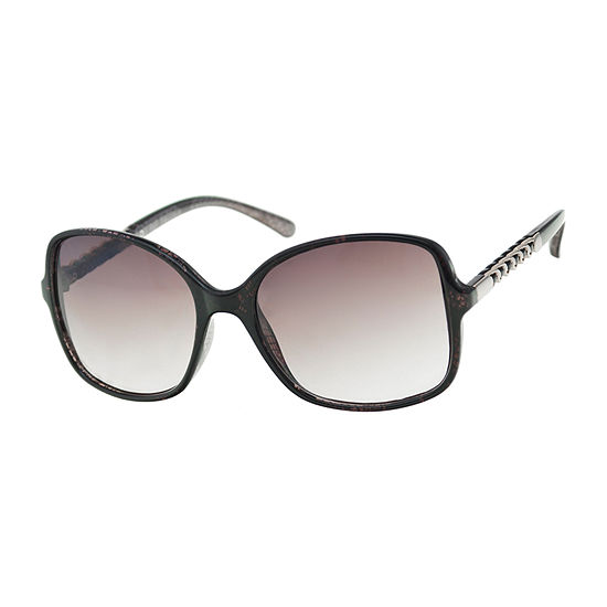 Mixit Oversized Square With Stone Temples Womens Sunglasses