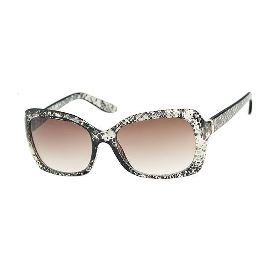 Mixit Rectangle With Snake Print Womens Sunglasses
