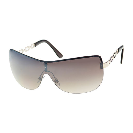 Mixit Metal Shield With Chain Temples Womens Sunglasses