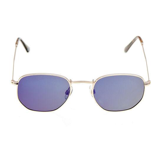 Foster Grant Hexagon Polarized Womens Sunglasses