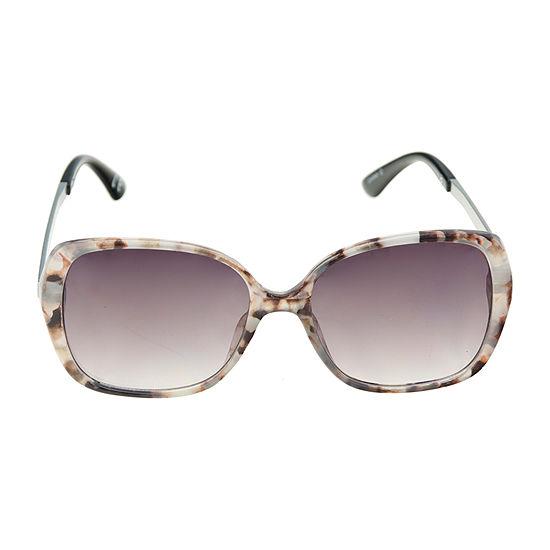 Worthington Rectangle With Metal Zebra Temples Womens Sunglasses