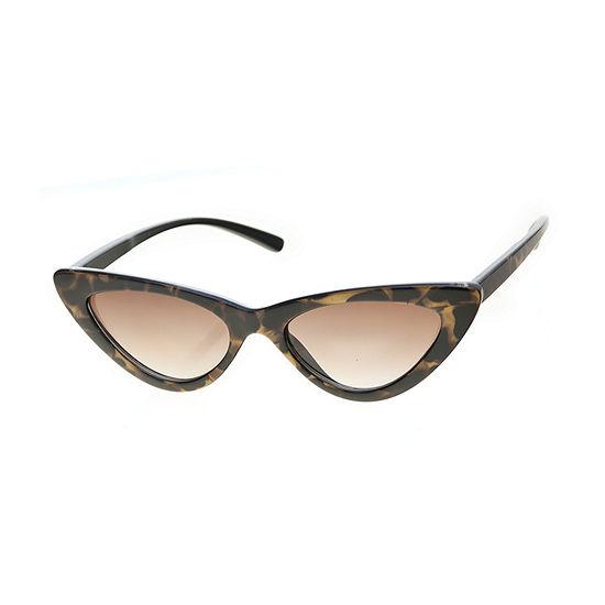Worthington Small Angular Cat Eye Womens Sunglasses