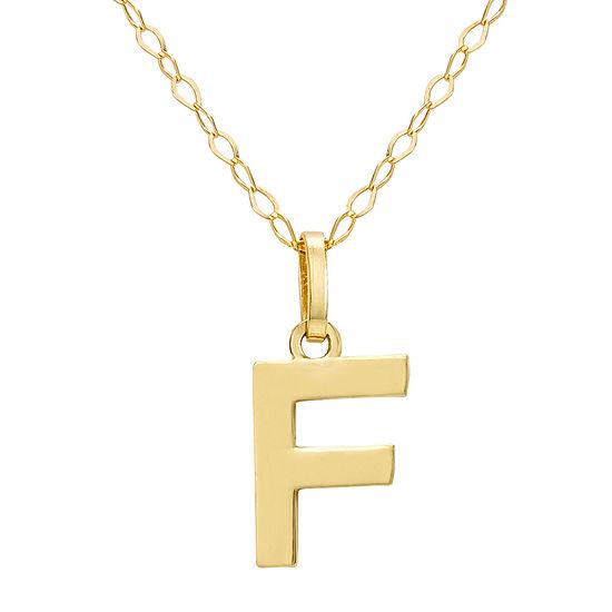 Girls 14K Gold Pendant Necklace
