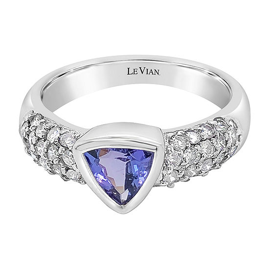 Le Vian Grand Sample Sale™ Ring featuring Blueberry Tanzanite® Vanilla Diamonds® set in 14K Vanilla Gold®