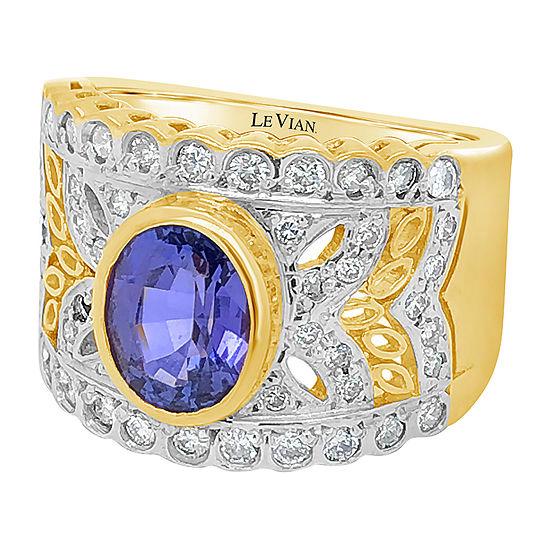 Le Vian Grand Sample Sale™ Ring featuring Blueberry Tanzanite® Vanilla Diamonds® set in 18K Two Tone Gold™