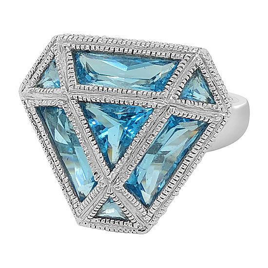 Le Vian Grand Sample Sale™ Ring featuring Blue Topaz Vanilla Diamonds® set in 14K Vanilla Gold®