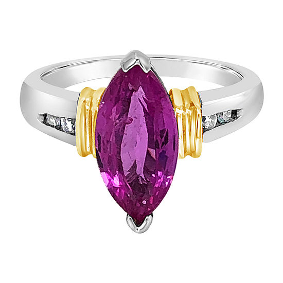 Le Vian Grand Sample Sale™ Ring featuring Bubble Gum Pink Sapphire™ Vanilla Diamonds® set in 14K Two Tone Gold